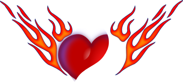 Flaming heart png. Clip art at clker