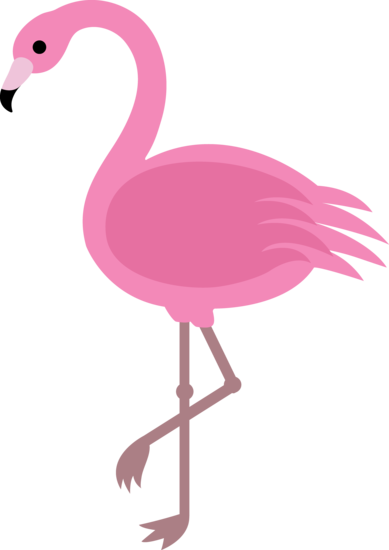 drawing flamingos vector