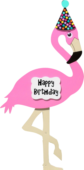 Flamingo clipart two. Kids birthday yard signs