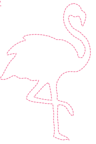 Flamingo outline png. Nail and string art
