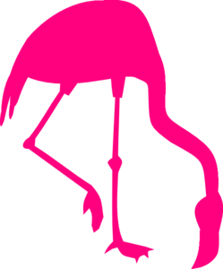 Flamingo clip silhouette. Pink art at clker
