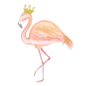 Flamingo transparent happy anniversary. Fling wow vow and