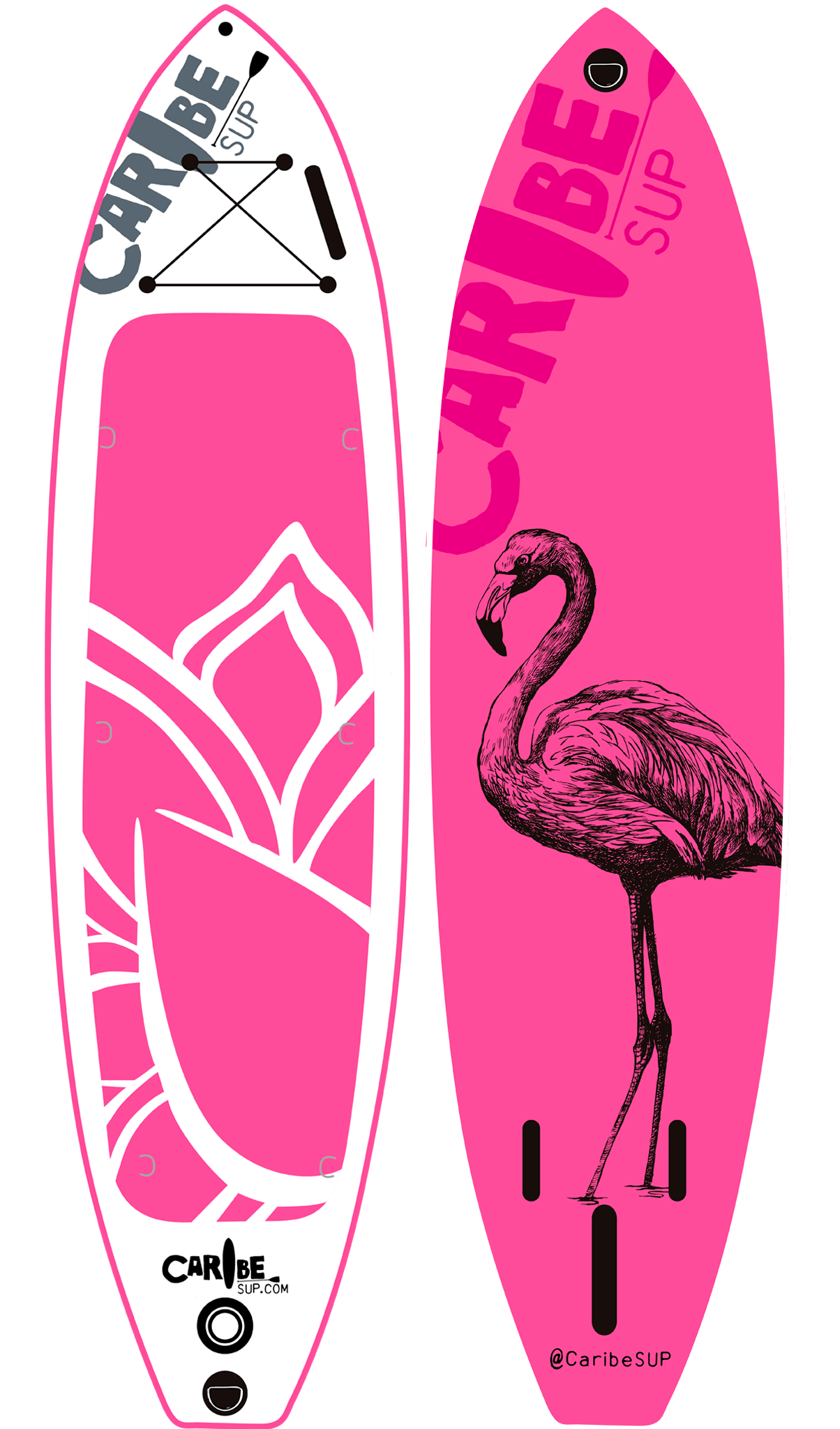 Flamingo transparent easy. Inflatable sup combo caribe