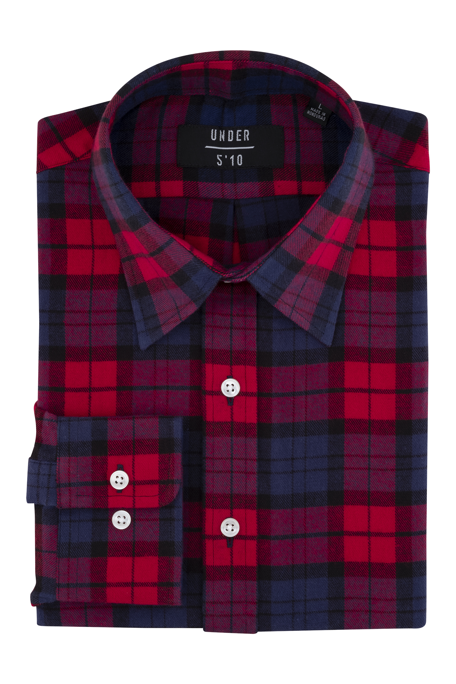 Flannel transparent buffalo. Red check button down