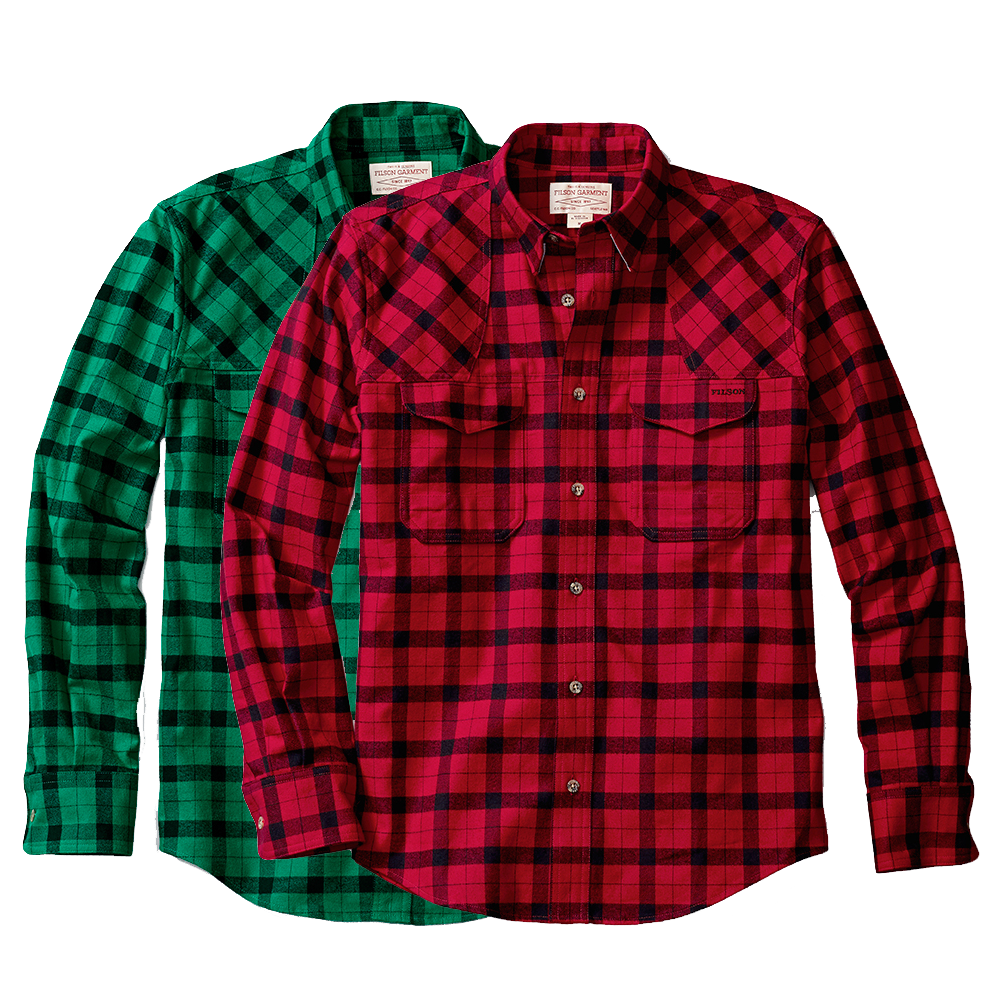 Flannel transparent green. Filson hunting shirt review