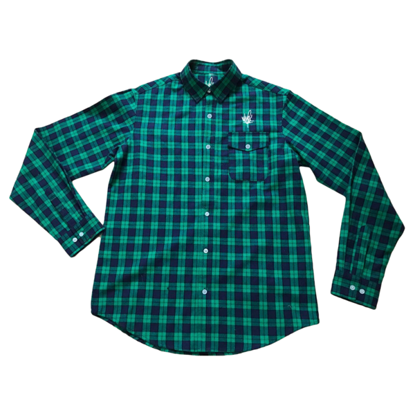 Flannel transparent green. Cities mike shinoda