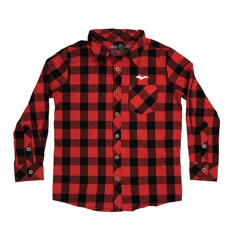 Flannel transparent red. Youth u p silhouette