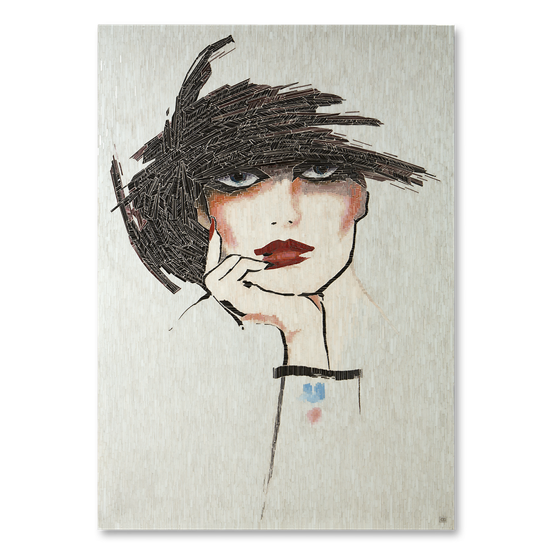 Flappers drawing cloche hat. Christopher guy