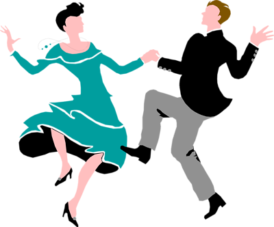 Flappers drawing dance charleston. Illustration of a couple