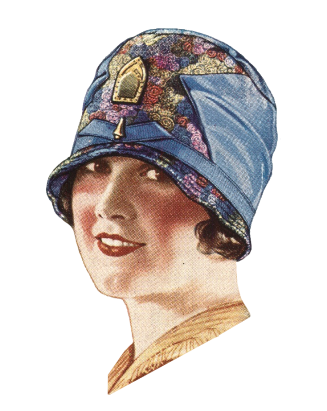 Flappers drawing cloche hat. S styles for