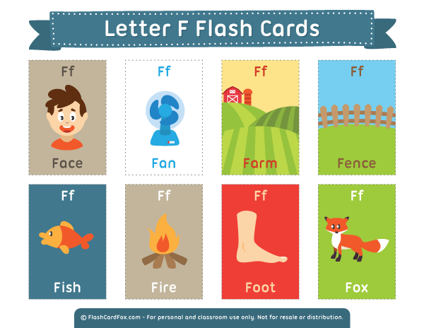 Flash cards png. Printable letter f free clipart library download