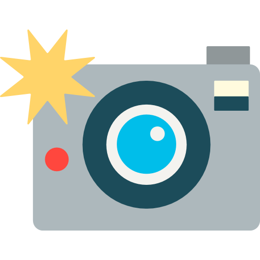 Flash clipart emoji. Camera with for facebook