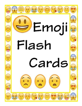 Flash clipart emoji. Emotions cards posters by
