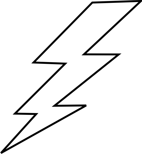 Lightning bolt clipart the flash. Free stencil lightening clip