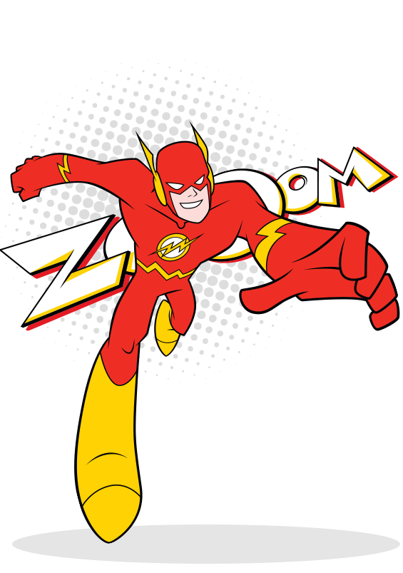 Flash superhero png.