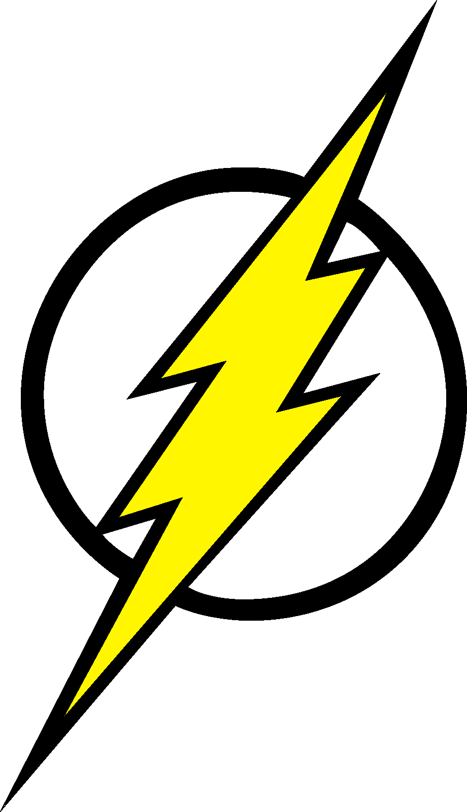 Lightning bolt clipart the flash. Logo fill by mr