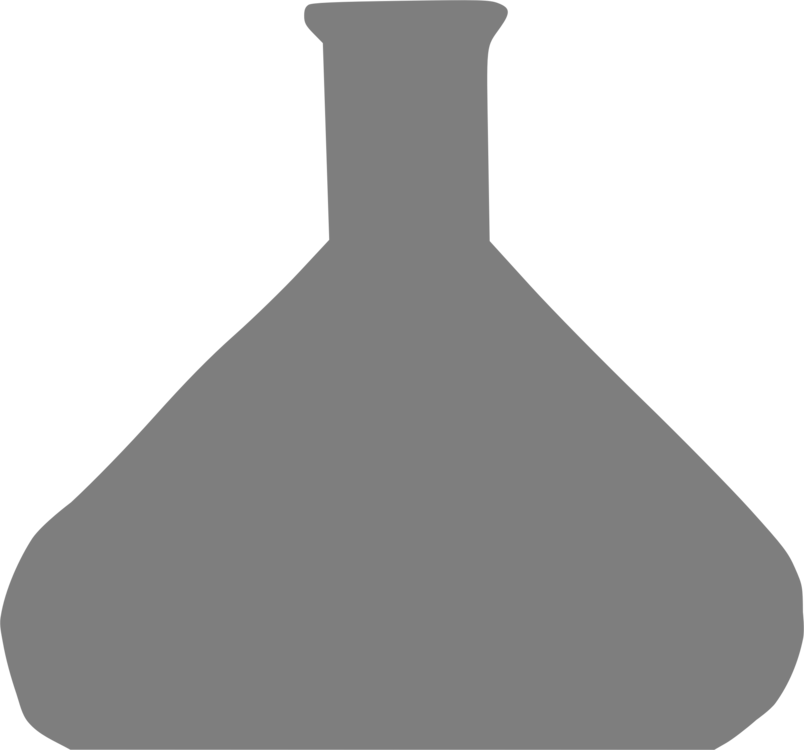 Flask drawing beaker. Laboratory erlenmeyer free commercial