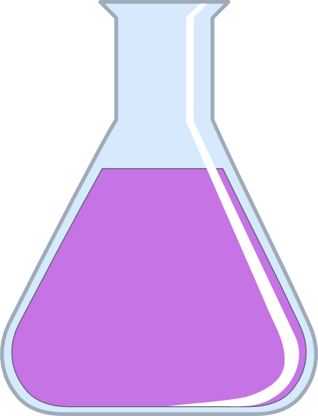 Flask drawing potion. Brown clip art at