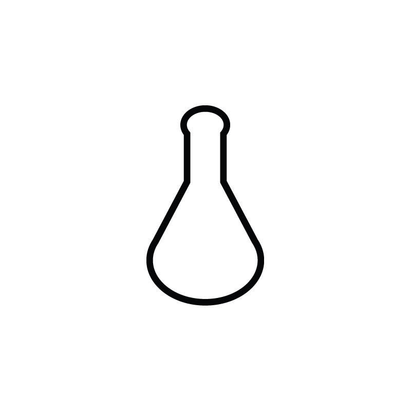 Flask drawing vector. Research lab chemistry tube