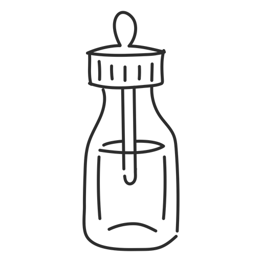 Pipette drawing svg. Phial vial sketch transparent