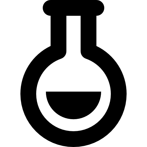 Flask vector. Icon page