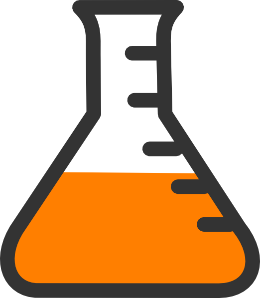 Flask vector chemical. Chemistry bottle clip art
