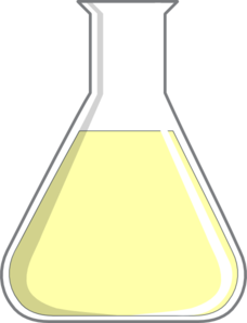 Vector laboratory flask. Collection of free apparatuses
