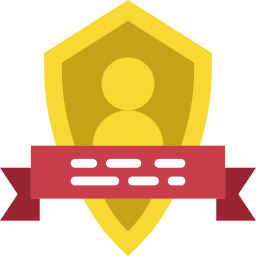 Flat badge png. Insignia gold icon svg