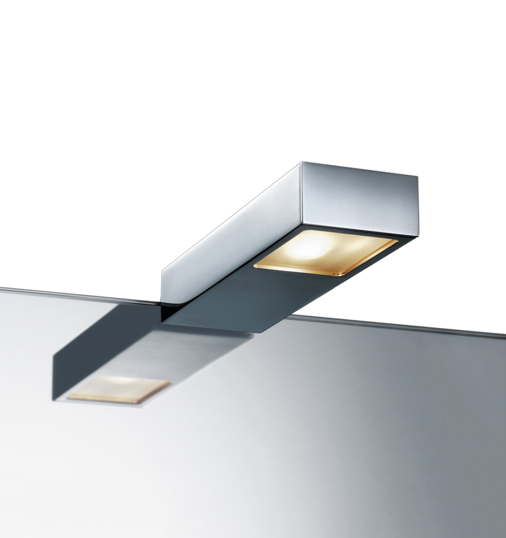 Flat clip metal. On light for mirror