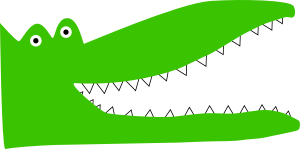 Vector alligator crocodile. Teeth clip art at