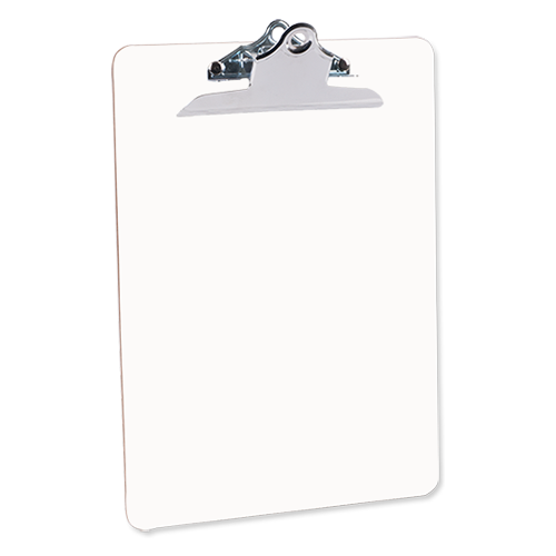 transparent clipboard sublimation