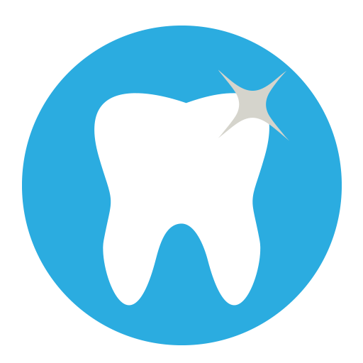 Teeth clip style. Dental icons funf pandroid