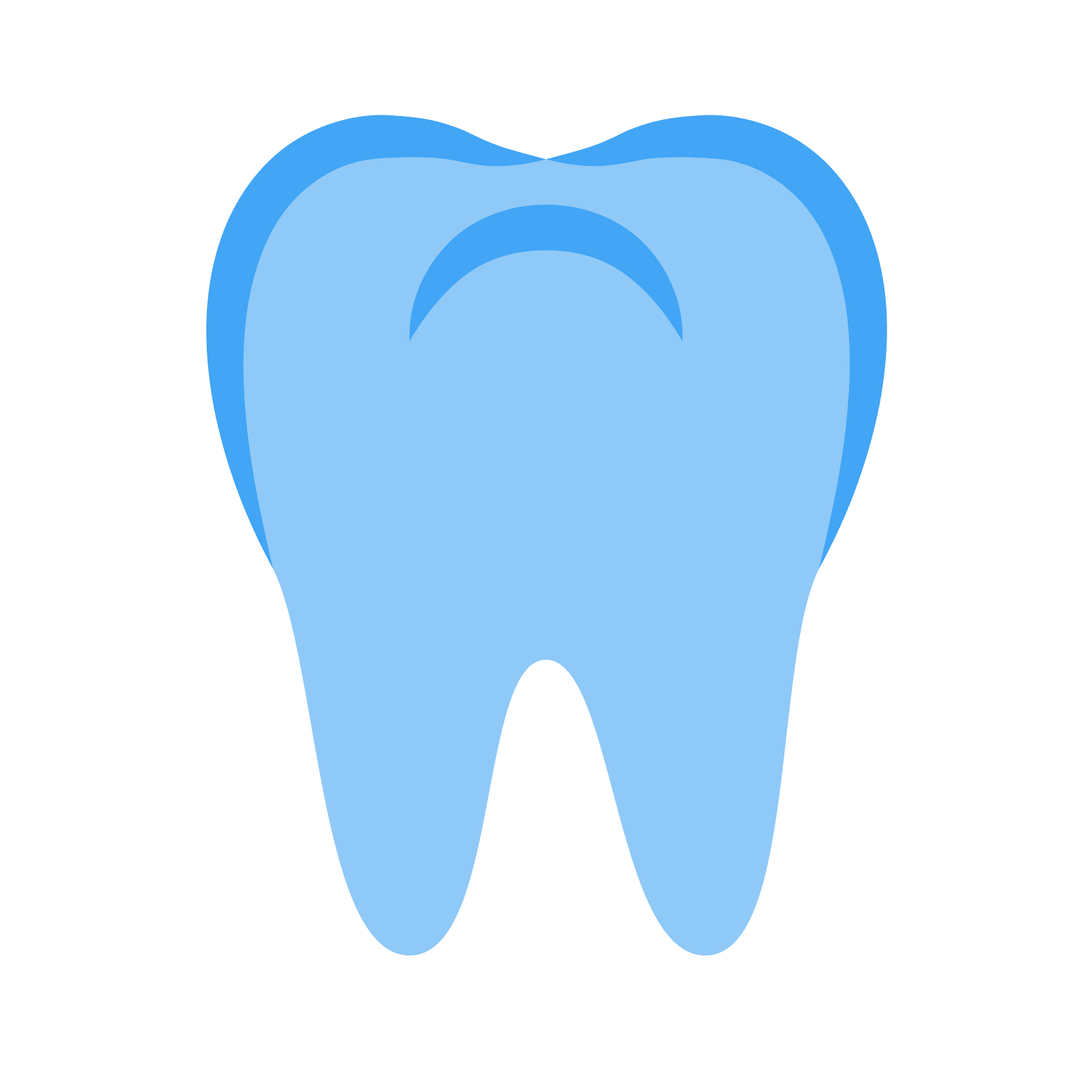 Teeth clip style. Tooth icon free download