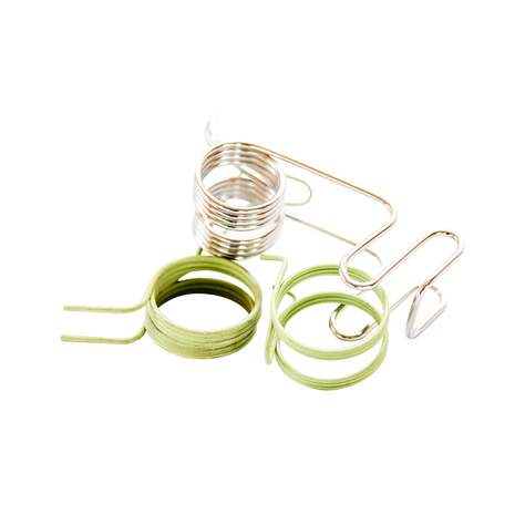 Clip spring coil. Types typically used for