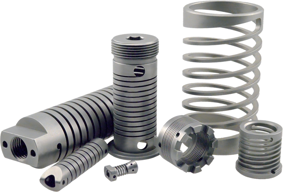 Flat clip torsion spring. Types of springs and