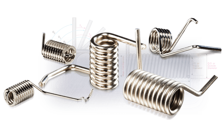 Flat clip torsion spring. Calculator newcomb manufacturer with