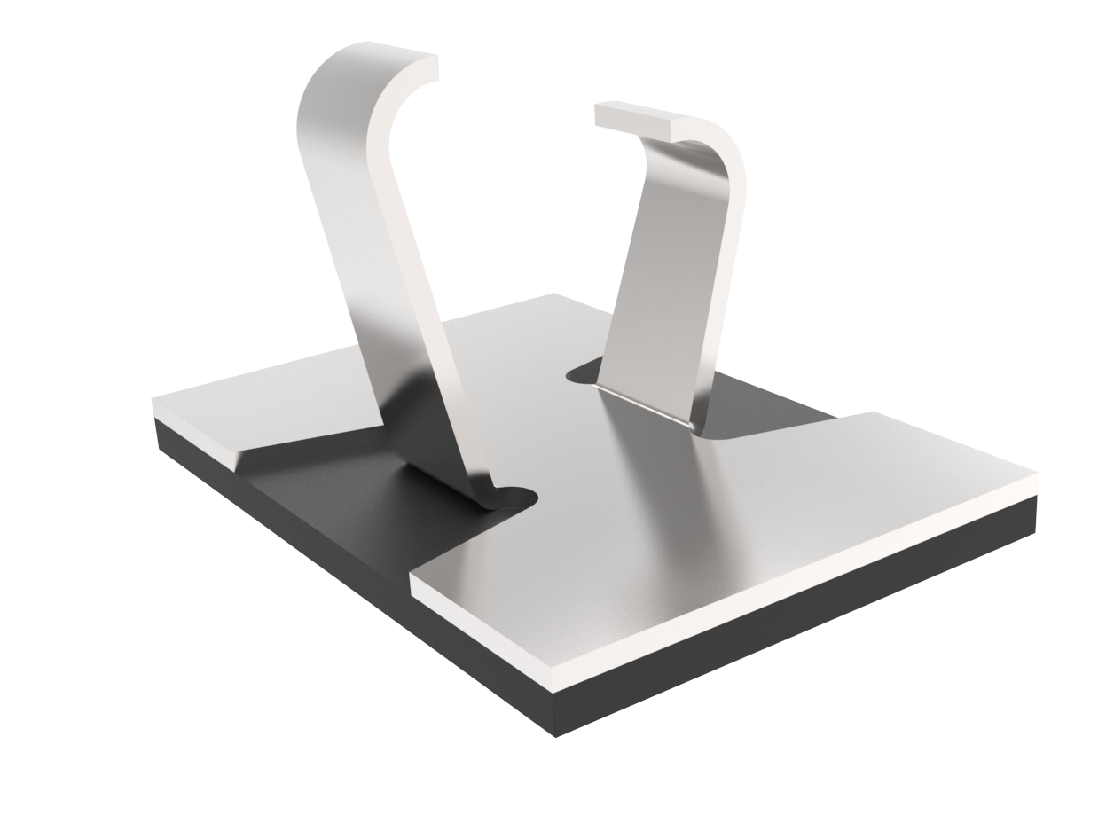 Flat clip wire. Araymond adhesive cable clips