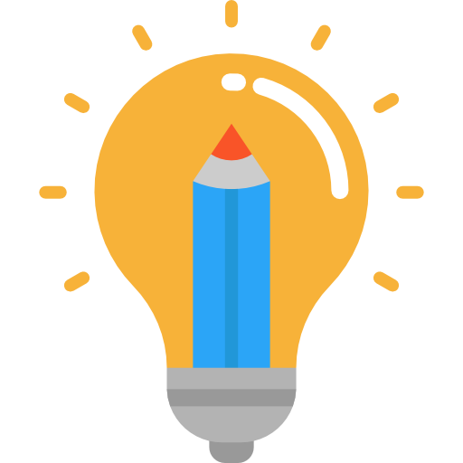 Light bulb png icon. Flat graphic design svg