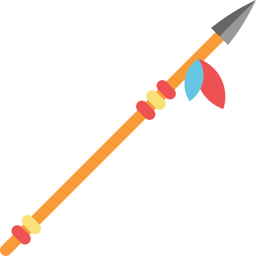 Flat design spear png. Icon svg