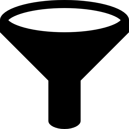 Flat funnel icon png. Filter free tools and