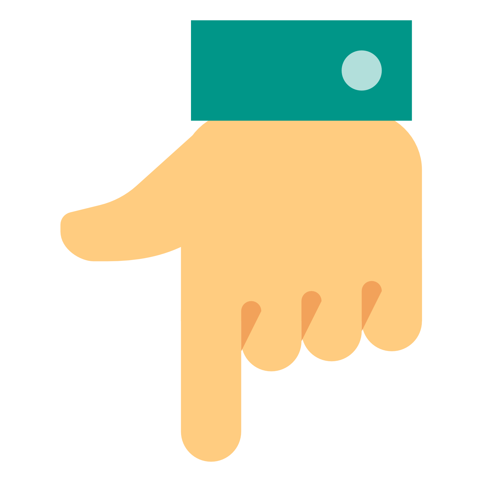 Flat hand png. Down transparent images pluspng