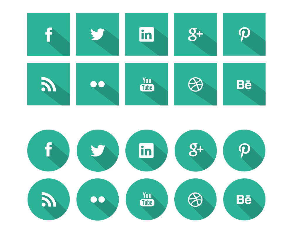Social icons png transparent. Flat the uncreative lab