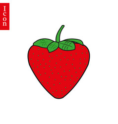 Flat strawberry. Clipart cultivation vector images