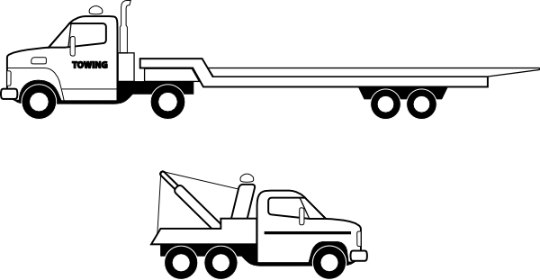 Transportation vector flat bed truck. Flatbed clip art at