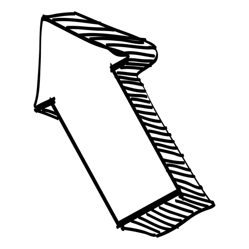 d arrow drawing. Flechas png clip library