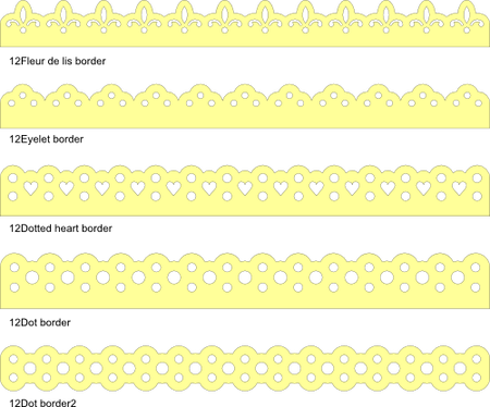 Fleur de lis border png. Inch and dotted