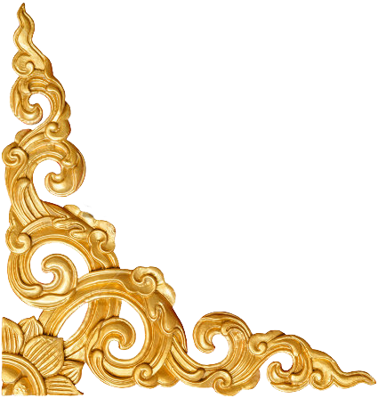 Fleur de lis border png. Decorative corner gold by