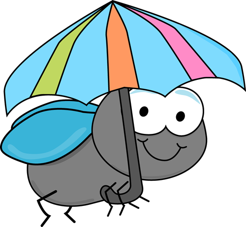 Umbrella clip cute. Fly art images and