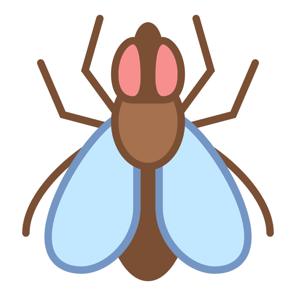 Vector insects different. Fly harmful animals clipart
