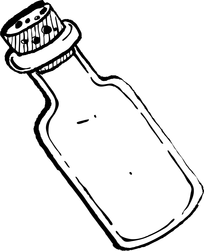 Flip drawing bottle. Svg png icon free